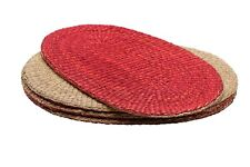 Reversible Oval Wicker Placemats - Set of 4