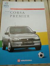 Vauxhall Corsa Premier brochure Apr 1996