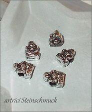 ✿ 8 pcs großloch perle Bouddha Argent 14x10x8mm European Beads ✿