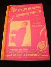Partitura Perlas de coral Sonneville Libertinaje musette Lucien Attard Music