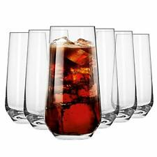 Krosno Tall Water Juice Drinking Glasses   Set of 6   480 ML   Splendour