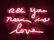 """13"""" All You Need is Love Neon Light Sign Home Decor Handcraft Lamp Art Poster"""