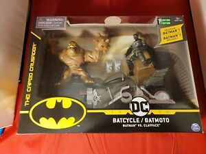 Batcycle from Batman vs Clayface Toy by Spin Master - DC Comics Motorcycle Bike