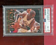 MICHAEL JORDAN CHICAGO BULLS 1995 FLEER NBA BASKETBALL TOTAL D CARD #3 PSA 8