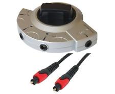 Premium 3 Fach Toslink Umschalter/Switch + 4x 1m Digital Toslink Kabel # DC-1.0