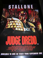 ORIGINAL JUDGE DREDD PROMOTIONAL POSTER