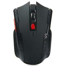 NEW! BLACK - Wireless Gaming Mouse - USB 2.0 Receiver - 2400 DPI -  2.4Ghz