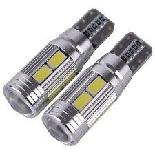 2x T10 CANBUS 5630 10 SMD LED ERROR FREE 501 194 W5W Car Side Wedge Light Bulb