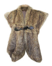 John Rocha Sumptuous  Brown Faux Fur Collar/ Stole with Leather Look Buckle Fast