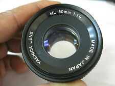 YASHICA f/1.9 50mm ML Prime Manual Lens Made in Japan