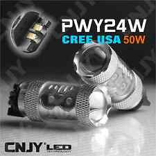 2 AMPOULE LED ORANGE PWY24W 50W CREE CLIGNOTANT CANBUS ANTI ERREUR AUDI BMW FORD