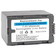 Battery for Panasonic CGR-D320 NV-DS65 AG-DVC30 NV-GS15 AG-DVC7 NV-GS1 CGR-D08R