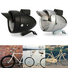 Metal Bicycle Headlight Bike Front Fog Light Retro Chrome Lamp Silver Black New
