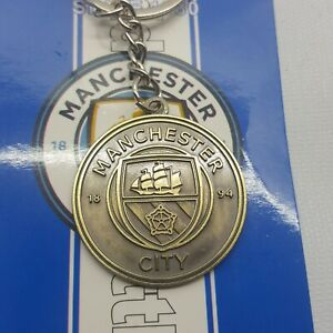 Manchester City 1894  Crest Key Chain Metal New in Bag