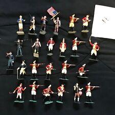 Marx Warriors of the World ( WOW ) - Lot of  24 Revolutionary War Figures