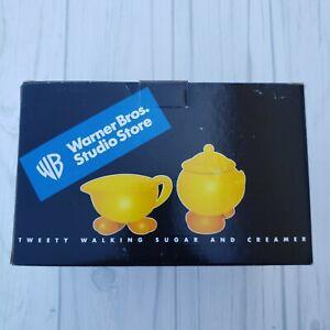 Vintage Warner Bros Studio Store Walking Tweety Bird Sugar Bowl and Creamer