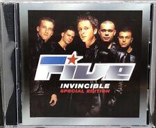 FIVE - INVINCIBLE, SPECIAL EDITION, DOUBLE CD ALBUM, (2000).