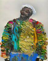 PRINT - Abstract Portrait Notorious BIG Biggie Smalls Hip Hop Wall Art Painting