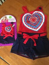 Girls Size 5 NWT Dollie Me Girls Romper Summer Dress American Girl Doll Clothes