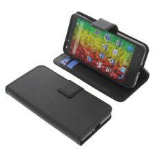 Tasche für MEDION Life X5001 Smartphone BookStyle Schutzhülle Buch Schwarz