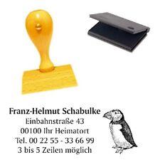 Adressenstempel « PAPAGEIENTAUCHER » mit Kissen - Firmenstempel - Vogel Puffin