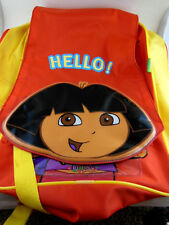 """Dora Back Pack Red & Yellow 11""""x 14"""" Excellent Condition"""