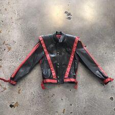 Rare Michael Jackson Thriller Black Red Leather Jacket By Metal Original 80s Vtg