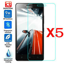 5Pcs 9H Premium Tempered Glass Film Screen Protector Cover For Lenovo Cell Phone
