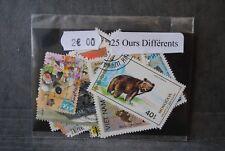 Animaux, Ours, 25 timbres thématiques, tous différents
