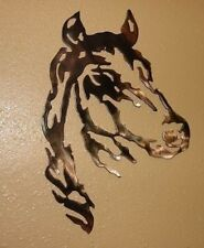 "Horse Head Metal Wall Art Western Decor 18"""