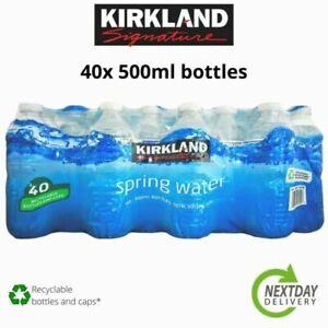 Kirkland Signature Natural Spring Water Screw Cap Bottles 40 x 500ml FREE 24 P+P