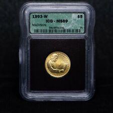 1993-W $5 James Madison Commemorative Gold Coin ICG MS69 (slx3784)