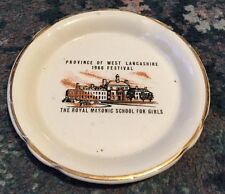 West Lancashire Masonic School For Girls Ceramic Plate