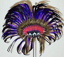 Exklusive Federhaube Indianer Kopfschmuck  - Warbonnet Karneval Kostüm