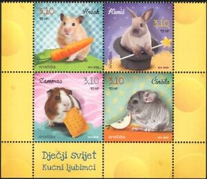 Croatia 2014 Children's World/Rabbit/Pets/Domestic Animals/Nature 4v blk n44714