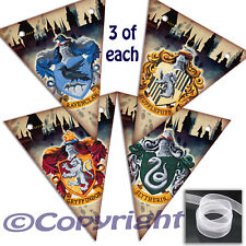 Harry Potter Houses SMALL Bunting 12 Flags Party/Room Decoration Card Banner 2M
