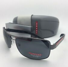 PRADA Sport Polarized Sunglasses SPS 54I 5AV-5Z1 65-14 Gunmetal Frames with Grey