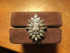 Diamond Ring - Circa 1940's 6.48 GR. 14KT White Gold Current Appraisal $3,200