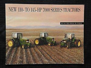 """GENUINE 1992 JOHN DEERE 7600 7700 7800 """"NEW GENERATION"""" TRACTOR BROCHURE NICE"""