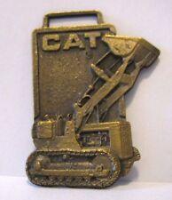 * Vintage Caterpillar Cat Crawler Tractor Loader Pocket Watch Fob Construction