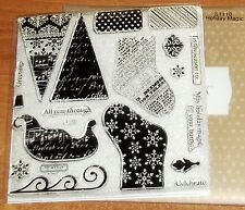 CTMH S1110 HOLIDAY MAGIC ~ SLEIGH, CHRISTMAS STOCKING, TREE, SNOWFLAKE