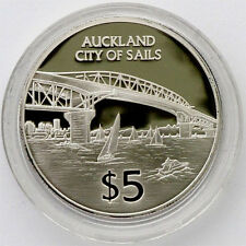 1996 AUCKLAND CITY SILVER PROOF $5 COIN !!!! RARE