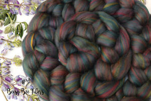 BOREALIS - Merino Wool Roving Color Blend Combed Top Spinning Felting - 4 oz