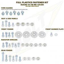 SUZUKI RM125/250 01-08 PLASTICS PANELS BOLT & WASHERS FASTENER KIT BOLT PLASTIC