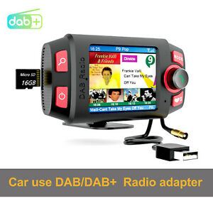 2.4 inch In-car DAB+ Radio receiver with Bluetooth player Support FM transmitter