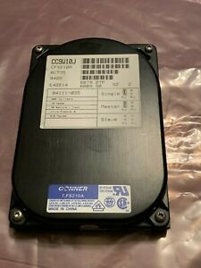 """Conner CFS210A 213 MB 3.5"""" IDE 3600 RPM Hard Drive Tested & Formatted"""