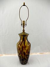 SEMI-TRANSPARENT ITALIAN ART GLASS VASE LAMP. ALL NEW WIRING. GOLDS & BROWNS