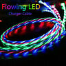 LED flowing Light Up USB Sync Charger Data Cable Charging Cord For Type-C Dw