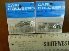 """CARL GOLDBERG #567 #4 x 3/8"""" SHEET METAL SCREWS SETS (2 PACKS) NEW IN PACKAGE"""