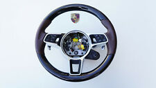 Porsche 9Y0 Cayenne E3 Multifunktions Sportlenkrad Leder Lenkrad trüffel BB.44